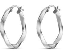 -Creolen 925er Silber rhodiniert One Size 87766721