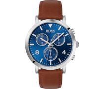 Boss-Uhren Analog Quarz Braun Braun Leder 32005888