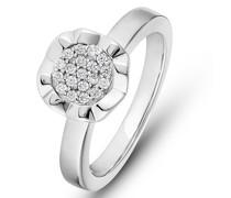 -Damenring Silber 19 Zirkonia 61 32012087