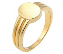 Ring Siegelring Basic Blogger Geo 925 Sterling Silber Ringe