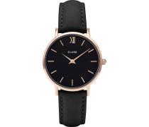 -Uhren Analog Quarz One Size Leder 32011690