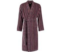 Bademantel Kimono Streifen 6517 rot-anthrazit - 27