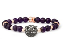 Armband Eule Messing Amethyst roségold