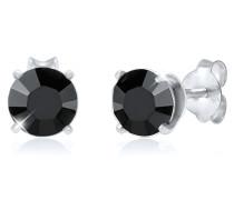 Ohrringe Basic Stecker Geo Swarovski® Kristalle 925 Silber