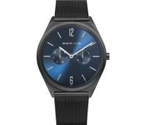 Unisex-Uhren Analog Quarz Schwarz 32017001