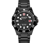-Uhren Analog Quarz Silberfarben/Schwarz 32012816