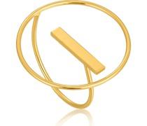 -Damenring Modern Circle Adjustable Ring 925er Silber One Size 88049071
