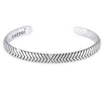 Armband Armreif Oxidiert Offen Basic 925 Silber