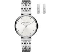 -Uhren Analog Quarz Roségold Edelstahl 32012590