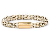 Armband Edelstahl Glassteine gelbgold