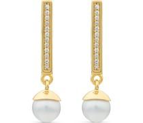 Silver-Ohrhänger Pearl 925er Silber 2 Perle Roségold 32011609