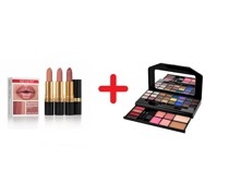Schminkpalette und Lippenstifte 3er Set SUPER LUSTRIOUS LIGHT