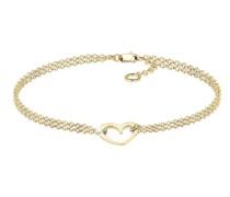 Armband Herz Zweireihig Valentin 375 Gelbgold