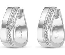 Silver-Creolen 925er Silber 26 Zirkonia One Size 86735482