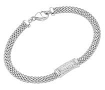 Armband Mesh, Mittelteil Zirkonia, Silber 925