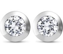 -Ohrstecker 925er Silber rhodiniert 2 Zirkonia One Size 86505657