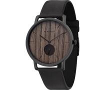 Unisex-Uhren Analog Quarz One Size Leder 87326161