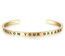 Armband FOLLOW YOUR DREAMS Edelstahl gelbgold