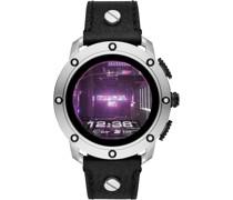 ON-Uhren Akku Schwarz/Silberfarben 32012056