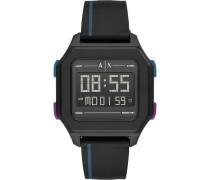 -Uhren Digital Quarz Schwarz Kunstleder 32012589