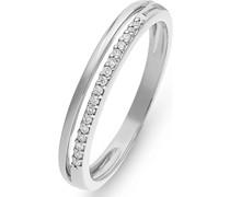 -Damenring 375er Weißgold 12 Diamant 56 32011819