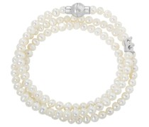 -Armband Perle, Messing Weiss/Silber 32000951
