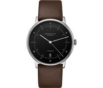 -Uhren Analog Schwarz#1 Schwarz Leder 32011802