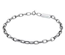 Armband Gliederkette Oval Massiv Basic 925 Silber