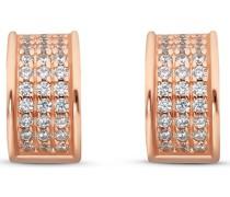 Silver-Creolen 925er Silber 66 Zirkonia Gold 32010626