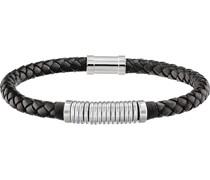 -Herrenarmband CASUAL Leder/Edelstahl Blau 32010587