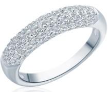 Ring Sterling Silber Zirkonia silber Silberring