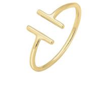 Ring Geo Trend Look Statement Offen 375 Gelbgold