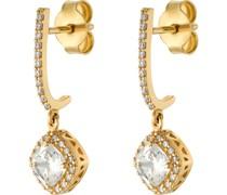 -Ohrhänger 375er Gelbgold 2 Zirkonia One Size 87977188