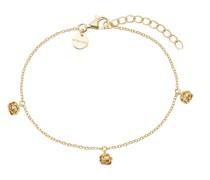 Armband für, Sterling Silber 925 vergoldet, Rose