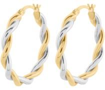 Gold-Creolen 375er Gelbgold, Weißgold One Size 87057941