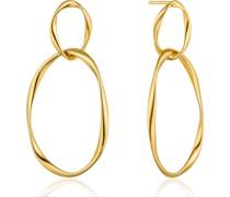 -Ohrhänger Swirl Nexus Earrings 925er Silber Gold 32014179