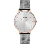 -Uhren Analog Quarz Silber 32011683