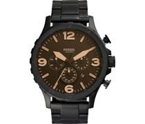 -Uhren Rund Analog Quarz One Size Edelstahl 32002112