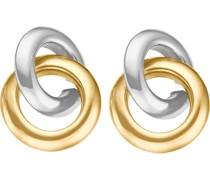 -Ohrstecker 375er Gelbgold, Weißgold One Size 86109905