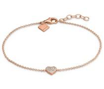 -Armband 925er Silber rhodiniert 18 Zirkonia Gelbgold 32011544