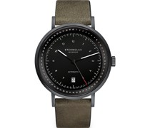 -Uhren Analog Automatik Braun Leder 32012083