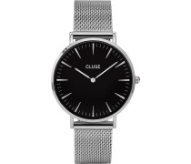 -Uhren Analog Quarz Silberfarben Silberfarben 32011681