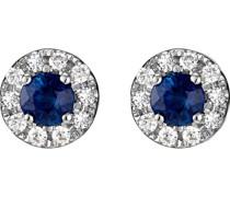 -Ohrstecker 375er Weißgold 20 Diamant One Size 87306054