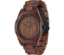 -Uhren Analog Quarz Teakholz Holz 32015167