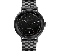 -Uhren Analog Automatik Schwarz Edelstahl 32012082