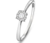 -Damenring 375er Weißgold 13 Diamant 56 32004136