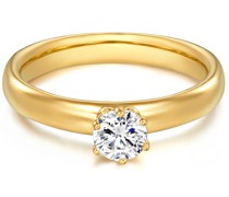 Ring Sterling Silber Zirkonia gelbgold