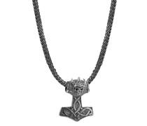 Halskette Schlangenkette mit Thor's Hammer 925 Silber