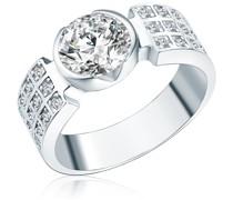 Ring Sterling Silber Zirkonia in Silberring