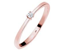 Ring Verlobung Solitär Diamant (0.03 ct.) 925 Silber